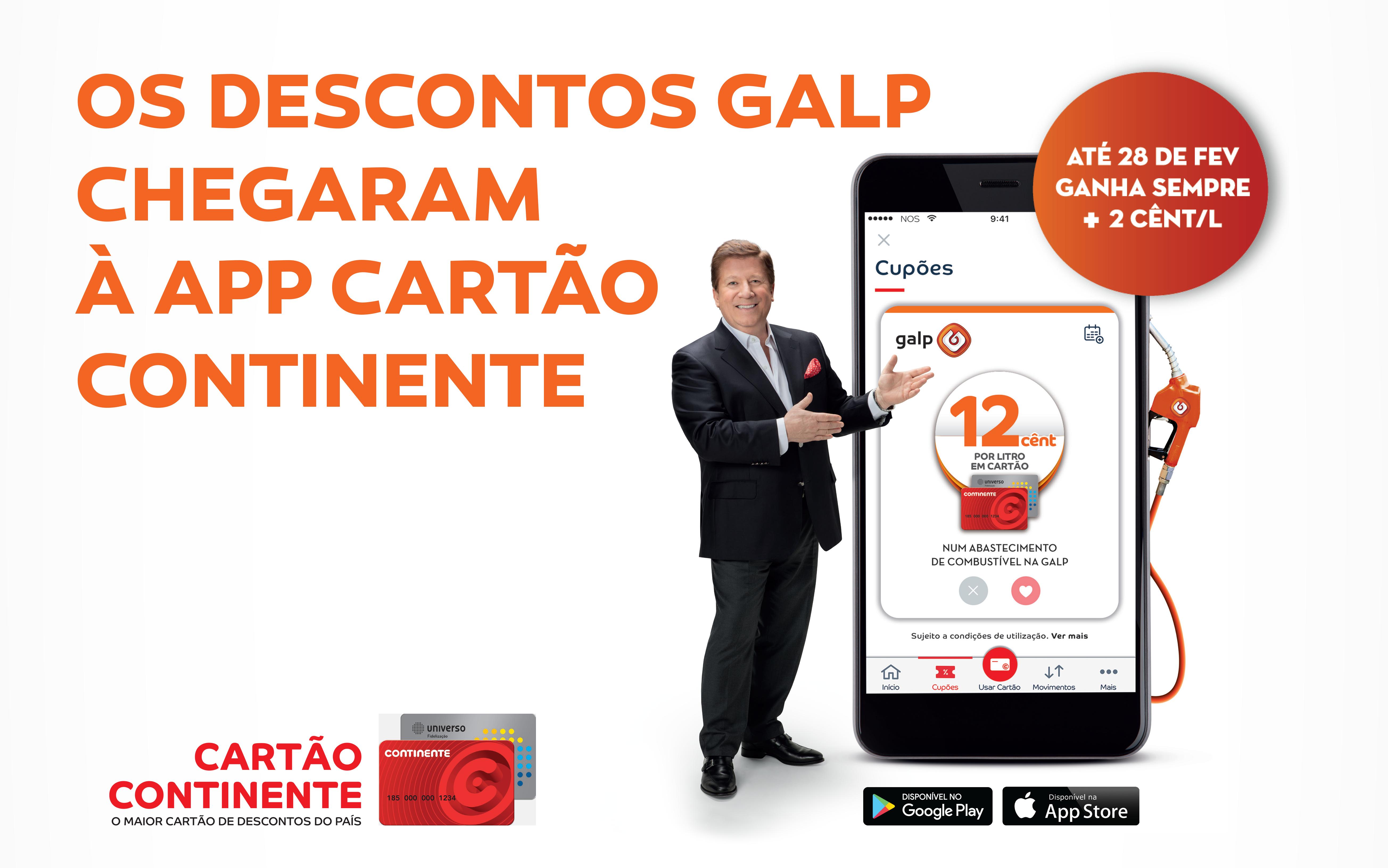 Os descontos Galp chegaram à app Cartão Continente!